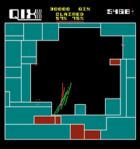 Qix arcade screenshot