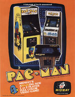 Pac Man arcade flyer