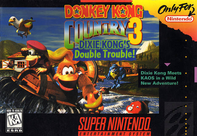 File:Donkey Kong Country 3 Dixie Kongs Double Trouble SNES cover.jpg
