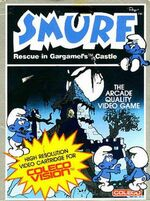Smurf Rescue in Gargamels Castle Colecovision cover