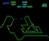 Gravitar arcade screenshot