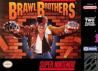 Brawl Brothers SNES cover