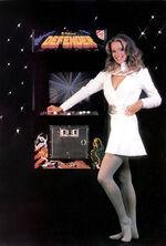 Defender arcade flyer