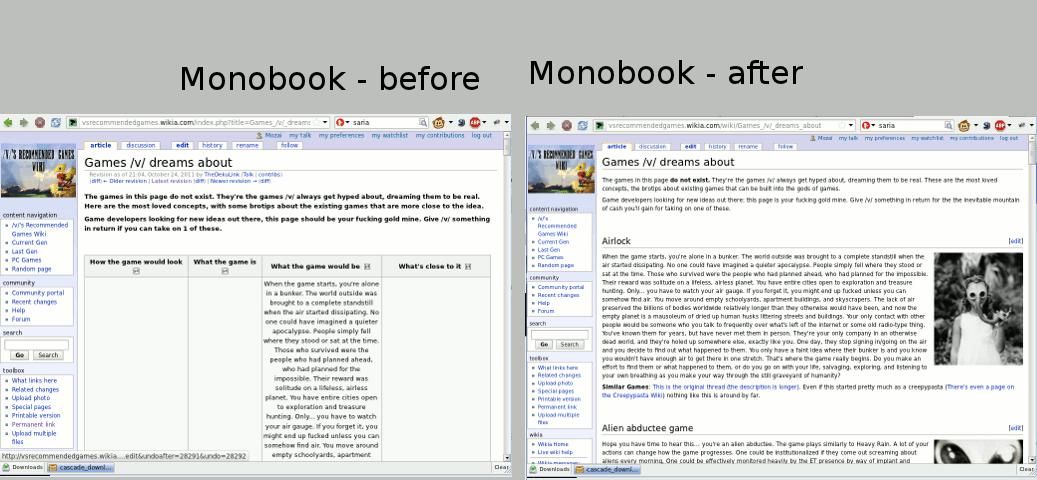 META layoutbeforeafter monobook
