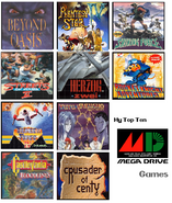 Top ten sega mega gen