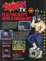 Smash TV arcade flyer