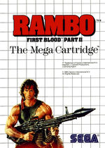 Rambo First Blood Part II SMS box art