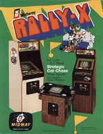 Rally X arcade flyer