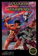 Wizards and Warriors NES cover