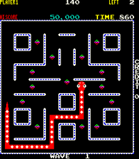 Nibbler arcade screenshot