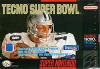 Tecmo Super Bowl SNES cover