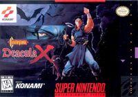 Castlevania Dracula X SNES cover