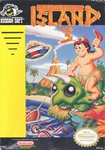 Adventure Island 3 NES cover