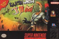 Earthworm Jim SNES cover