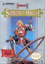 Castlevania 2 NES cover