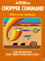 Atari 2600 Chopper Command box art