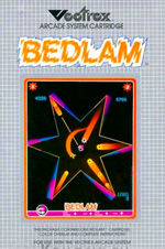 Bedlam Vectrex cover