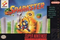 Sparkster SNES cover