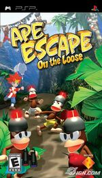 Ape escape on the loose psp cover
