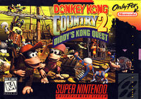 Donkey Kong Country 2 Diddys Kong Quest SNES cover