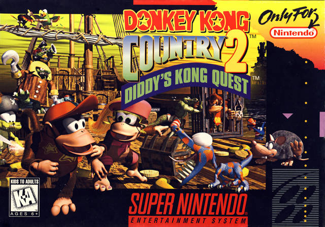 File:Donkey Kong Country 2 Diddys Kong Quest SNES cover.jpg