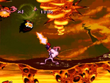 Earthworm Jim SNES screenshot