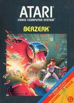 Atari 2600 Berzerk box art