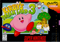 Kirbys Dream Land 3 SNES cover