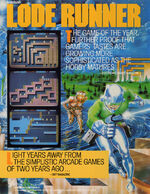 Lode Runner arcade flyer