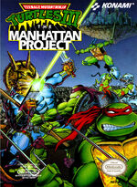 Teenage Mutant Ninja Turtles 3 The Manhattan Project NES cover