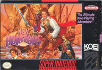 Uncharted Waters New Horizons SNES cover