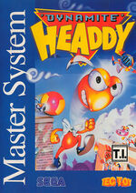Dynamite Headdy SMS box art