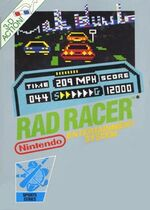 Rad Racer NES cover