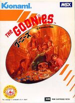 The Goonies MSX cover
