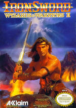 Wizards and Warriors 2 Ironsword NES cover