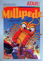 Atari 2600 Millipede box art