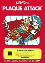 Atari 2600 Plaque Attack box art