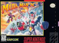 Mega Man X 3 SNES cover