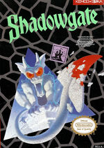 Shadowgate NES cover