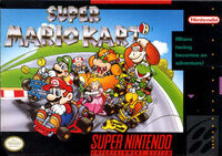 Super Mario Kart SNES cover