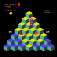 Qbert arcade screenshot