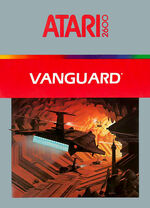 Atari 2600 Vanguard box art