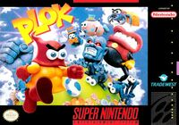 Plok SNES cover