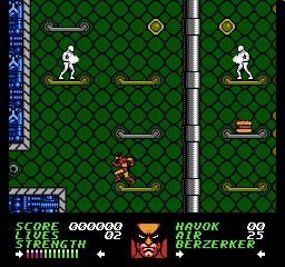 Wolverine NES screenshot