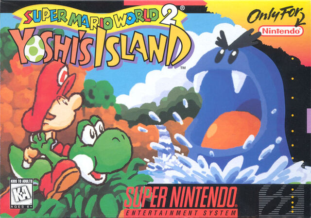 File:Super Mario World 2 Yoshis Island SNES cover.jpg