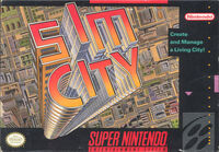 Sim City SNES cover