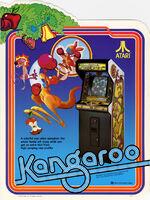 Kangaroo arcade flyer
