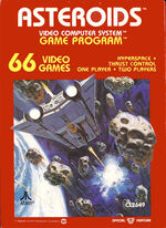 Atari 2600 Asteroids box art