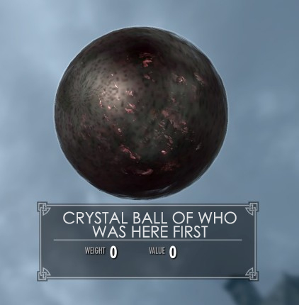 Crystal ball of who was here first