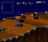 Rock N Roll Racing SNES screenshot